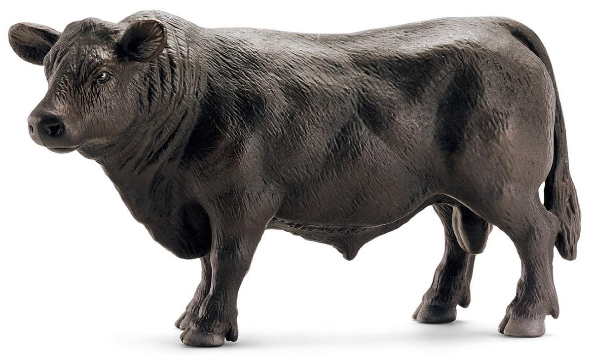 Schleich Фигурка Бык Черный ангус  теленок черный ангус schleich