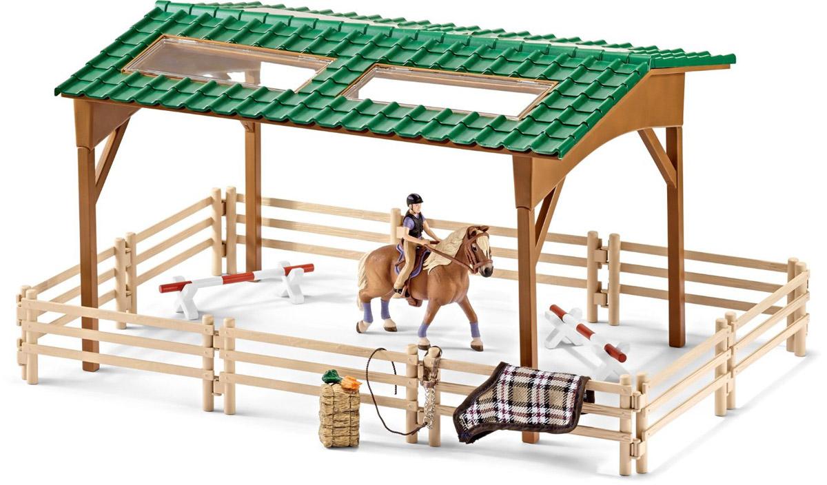 Schleich Игровой набор Площадка для верховой езды schleich schleich ковбойский набор для верховой езды серия ферма