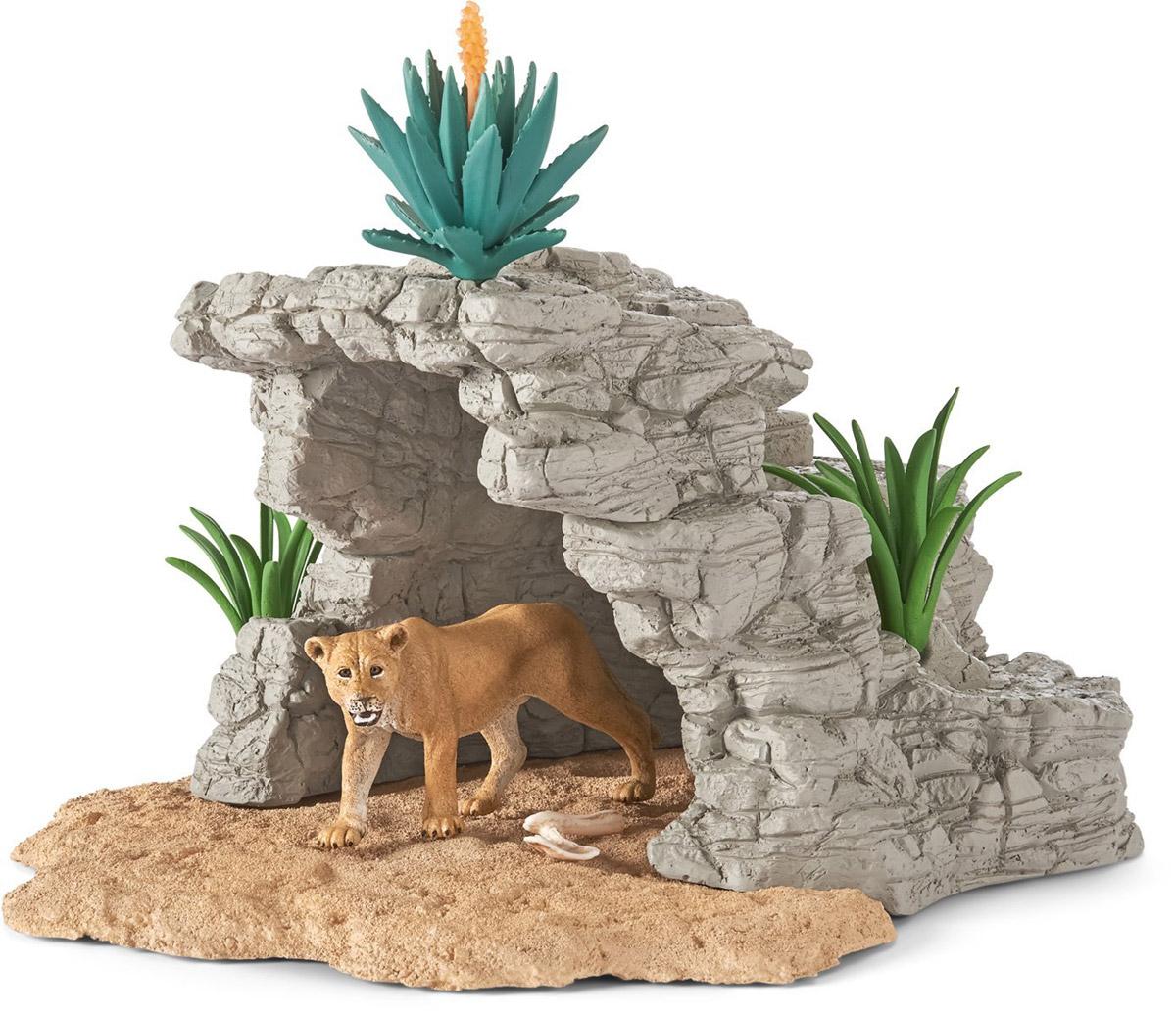 Schleich Игровой набор Пещера со львом schleich набор пещера скорпионов