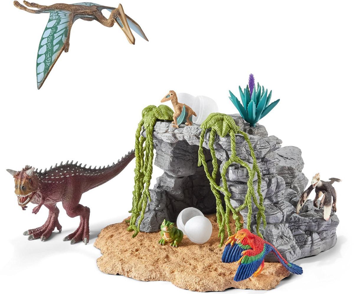 Schleich Игровой набор Пещера динозавров schleich набор пещера скорпионов