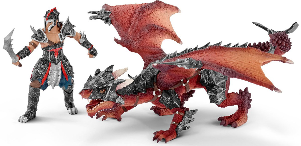 Schleich Набор фигурок Воин с драконом  фигурки игрушки schleich дракон воин