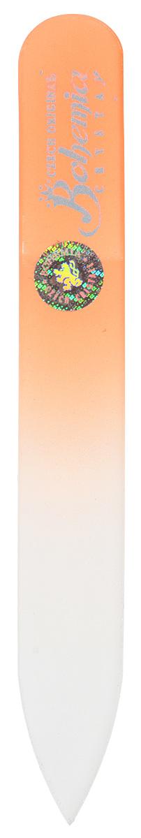 Пилочка для ногтей Bohemia, стеклянная, чехол из замши. 0902, цвет: оранжевый5010777142037Стеклянная пилочка Bohemia подходит как для натуральных, так и для искусственных ногтей. После пользования стеклянной пилочкой ногти не слоятся и не ломаются. Эта пилочка прекрасно шлифует и придает форму ногтям. При уходе за накладными ногтями рекомендуем пилочку во время работы периодически смачивать в воде.К пилочке прилагается чехол из замши.