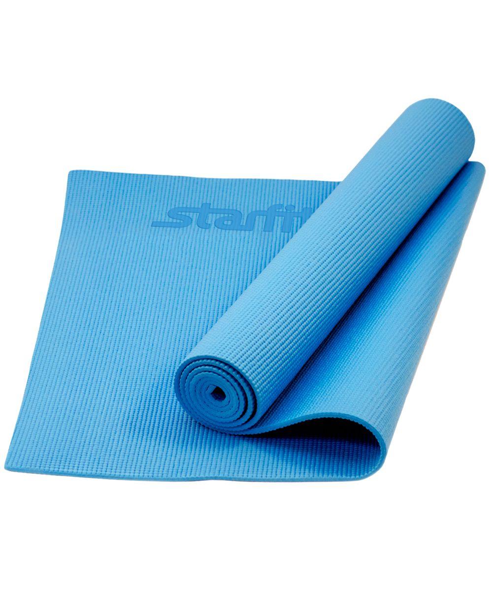 Коврик для йоги Starfit FM-101, цвет: синий, 173 х 61 х 0,3 смУТ-00008828Коврик для йоги Star Fit FM-101 - это незаменимый аксессуар для любого спортсмена как во время тренировки, так и во время пре-стретчинга (растяжки до тренировки) и стретчинга (растяжки после тренировки). Выполнен из высококачественного ПВХ. Коврик используется в фитнесе, йоге, функциональном тренинге. Его используют спортсмены различных видов спорта в своем тренировочном процессе.Предпочтительно использовать без обуви. Если в обуви, то с мягкой подошвой, чтобы избежать разрыва поверхности коврика.