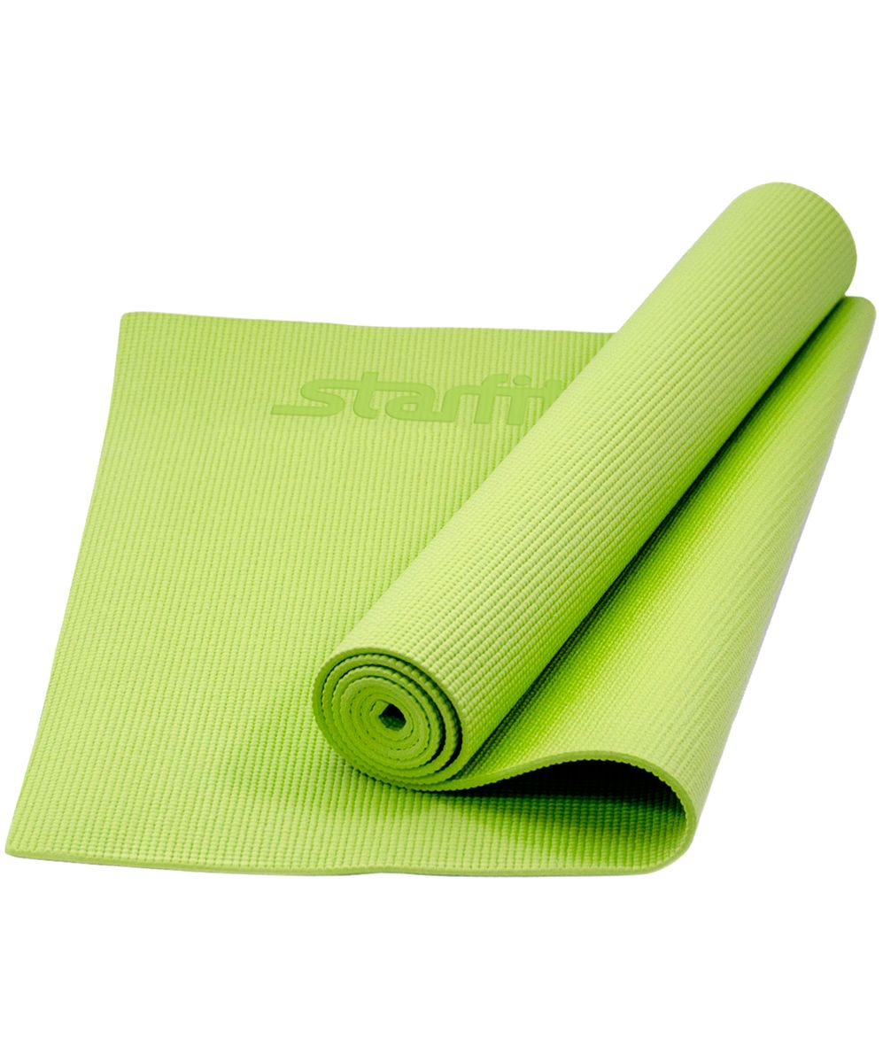 Коврик для йоги Starfit FM-101, цвет: зеленый, 173 x 61 x 0,8 смУТ-00008838Коврик для йоги Star Fit FM-101 - это незаменимый аксессуар для любого спортсмена как во время тренировки, так и во время пре-стретчинга (растяжки до тренировки) и стретчинга (растяжки после тренировки). Выполнен из высококачественного ПВХ. Коврик используется в фитнесе, йоге, функциональном тренинге. Его используют спортсмены различных видов спорта в своем тренировочном процессе.Предпочтительно использовать без обуви. Если в обуви, то с мягкой подошвой, чтобы избежать разрыва поверхности коврика.