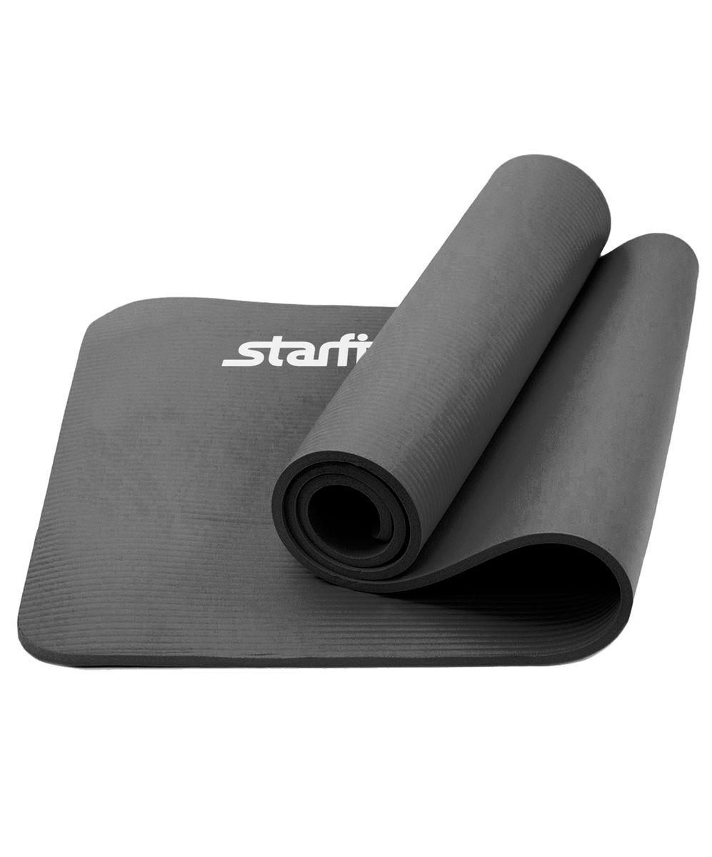 """Коврик для йоги """"Star Fit"""", цвет: серый, 183 x 61 см, Starfit"""