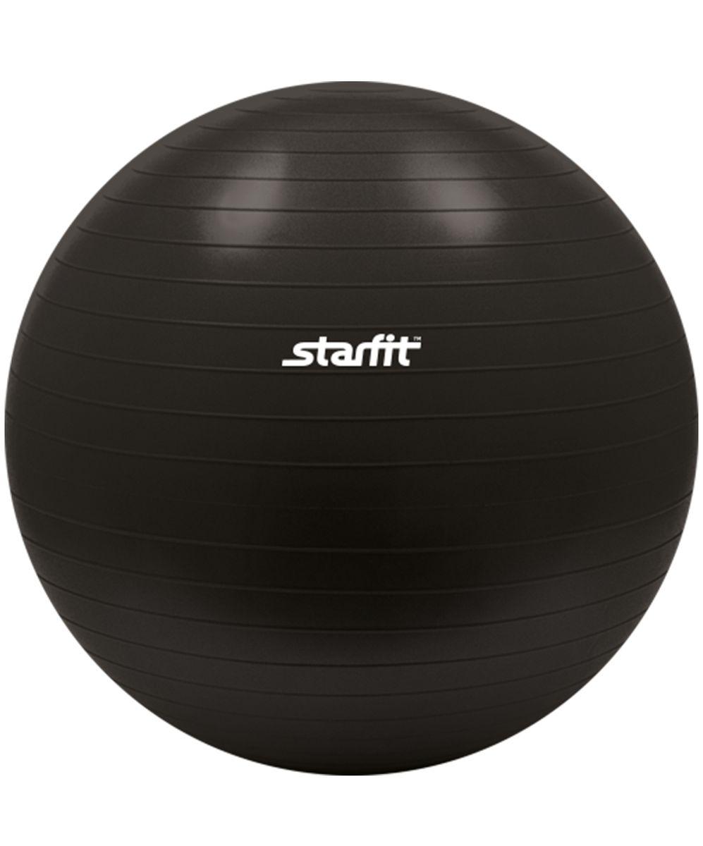 Мяч гимнастический Starfit, антивзрыв, цвет: черный, диаметр 55 см3B327С помощью гимнастического мяча Star Fit можно тренировать все мышцы тела, правильно выстроив тренировочный процесс и используя его как основной или второстепенный снаряд (создавая за счет него лишь синергизм действия, а не основу упражнения) для упражнения. Изделие выполнено из прочного ПВХ.Гимнастический мяч - это один из самых популярных аксессуаров в фитнесе. Его используют и женщины, и мужчины в функциональном тренинге, бодибилдинге, групповых программах, стретчинге (растяжке). УВАЖЕМЫЕ КЛИЕНТЫ!Обращаем ваше внимание на тот факт, что мяч поставляется в сдутом виде. Насос не входит в комплект.