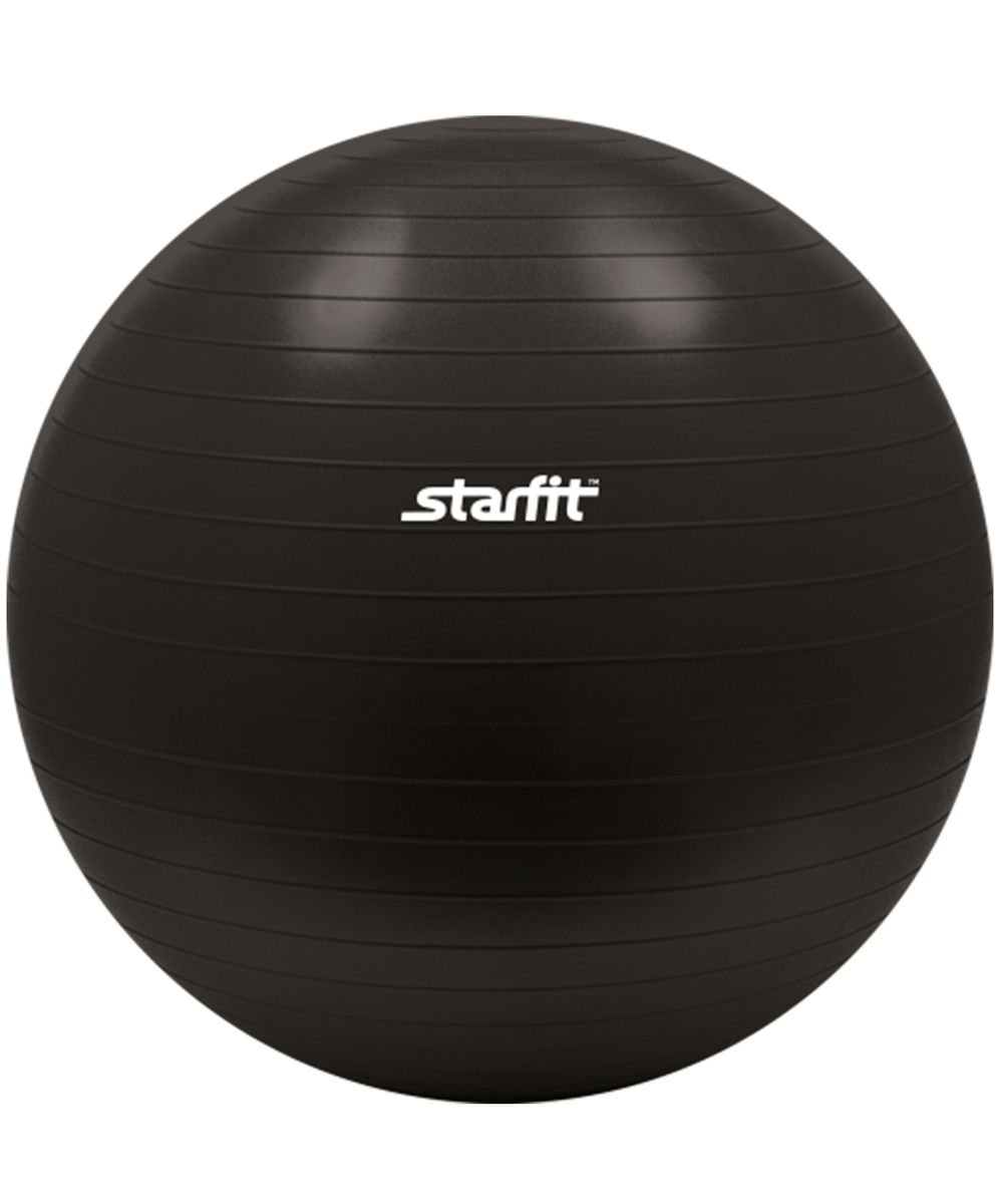 Мяч гимнастический Starfit, антивзрыв, цвет: черный, диаметр 85 смKBO-1014С помощью гимнастического мяча Star Fit можно тренировать все мышцы тела, правильно выстроив тренировочный процесс и используя его как основной или второстепенный снаряд (создавая за счет него лишь синергизм действия, а не основу упражнения) для упражнения. Изделие выполнено из прочного ПВХ.Гимнастический мяч - это один из самых популярных аксессуаров в фитнесе. Его используют и женщины, и мужчины в функциональном тренинге, бодибилдинге, групповых программах, стретчинге (растяжке). УВАЖЕМЫЕ КЛИЕНТЫ!Обращаем ваше внимание на тот факт, что мяч поставляется в сдутом виде. Насос не входит в комплект.