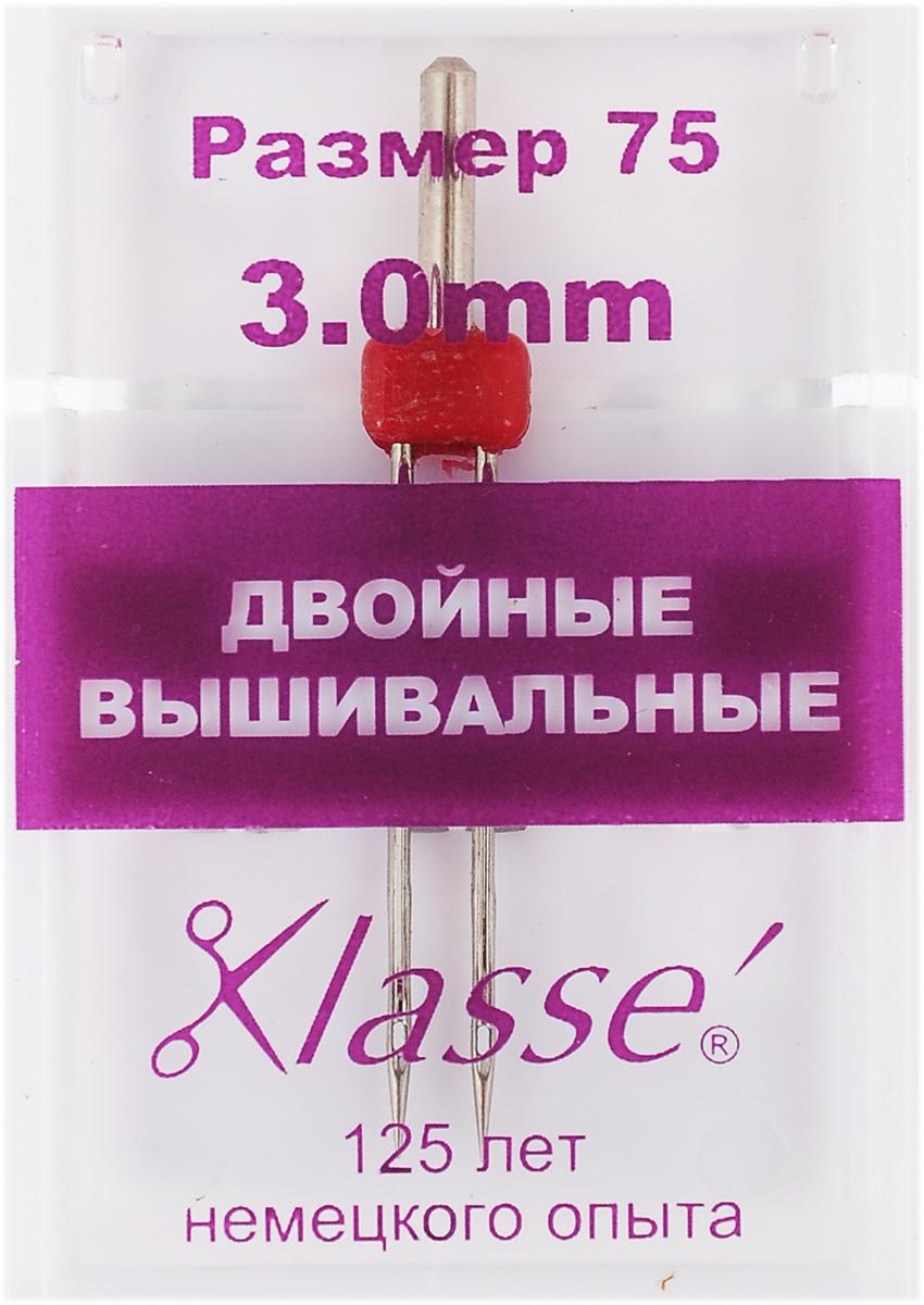 Игла для бытовых швейных машин Hemline, вышивальная, двойная, №75, 3 мм110.40Двойная игла Hemline предназначена для финишной отделки отстрочкой после вышивания нитками район или полиэстер на различных нетолстых тканях. Более крупное ушко иглы разработано специально для вышивальных ниток, кроме того нить очень легко вдеть в иглу. Используйте пониженную скорость при работе.В комплекте пластиковый футляр для переноски и хранения. Размер: 75. Расстояние между иглами: 3 мм.