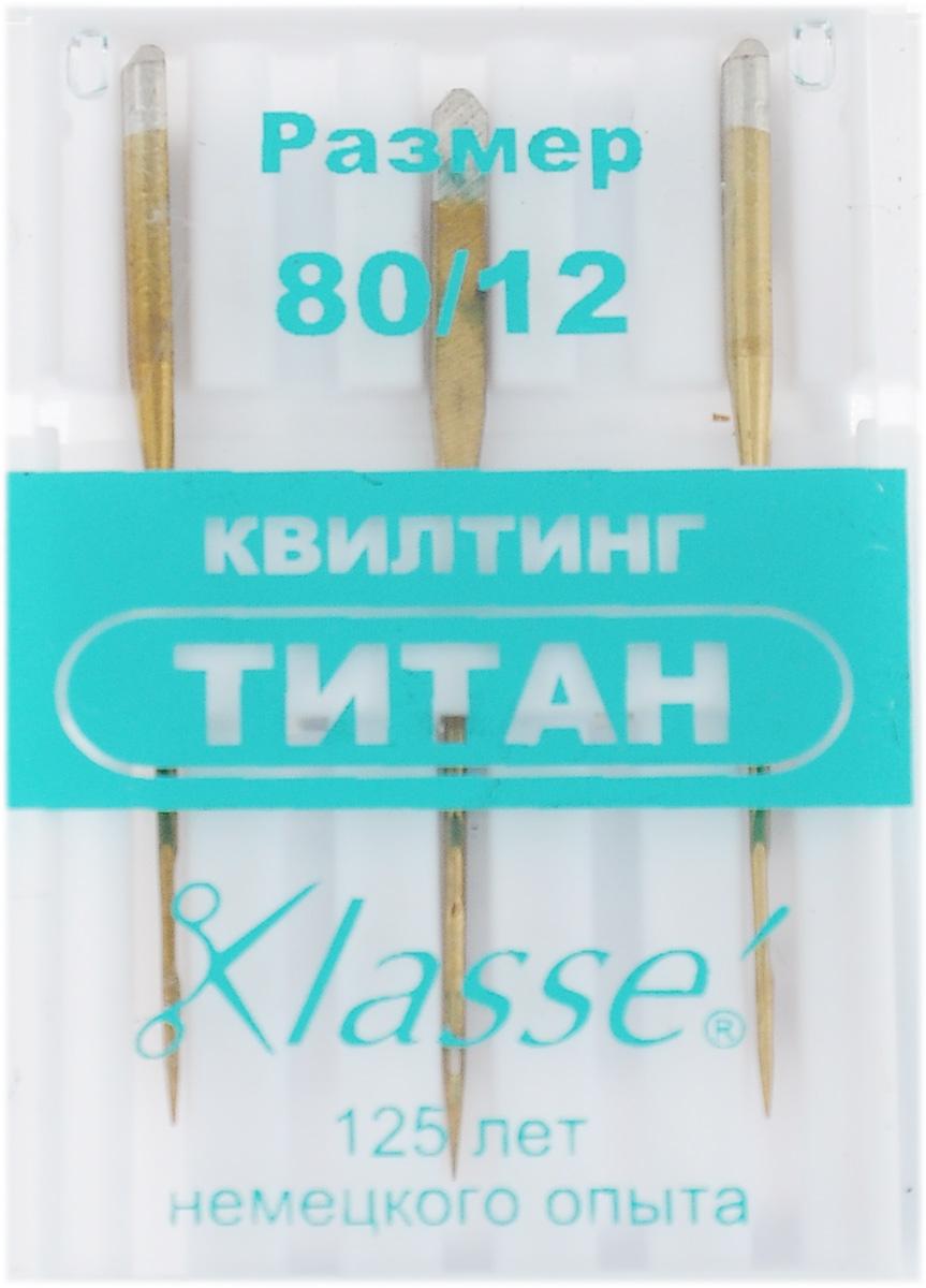 Иглы для бытовых швейных машин Hemline, для квилтинга, титановые, №80, 3 штKT-508-3 бело-фиолетовыйИглы для квилтинга Hemline подходят для прокалывания слоев хлопчатобумажных тканей с ватной прокладкой. Длинный и острый кончик игл проходит сквозь слои и оставляет ровные стежки. Иглы выполнены из высококачественного титана.В комплекте футляр для переноски и хранения.Размер: №80/12.Комплектация: 3 шт.