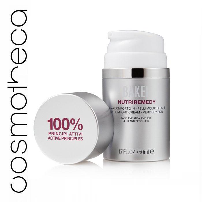 Bakel Крем ультраувлажняющий для лица и контура глаз для очень сухой кожи 50 мл5902596005221Ультрапитательный и омолаживающий крем, созданный для очень сухой кожи. Богат ценными маслами и экстрактами, эффективно борется с сухостью кожи и обеспечивает немедленный комфорт. Воски акация и жожоба восстанавливают эластичность; смесь пептида, фитостеринов и мальтодекстрина оказывают интенсивное омолаживающее действие. Крем 24-часового действия для интенсивного питания, восстановления барьера и повышения эластичности кожи.