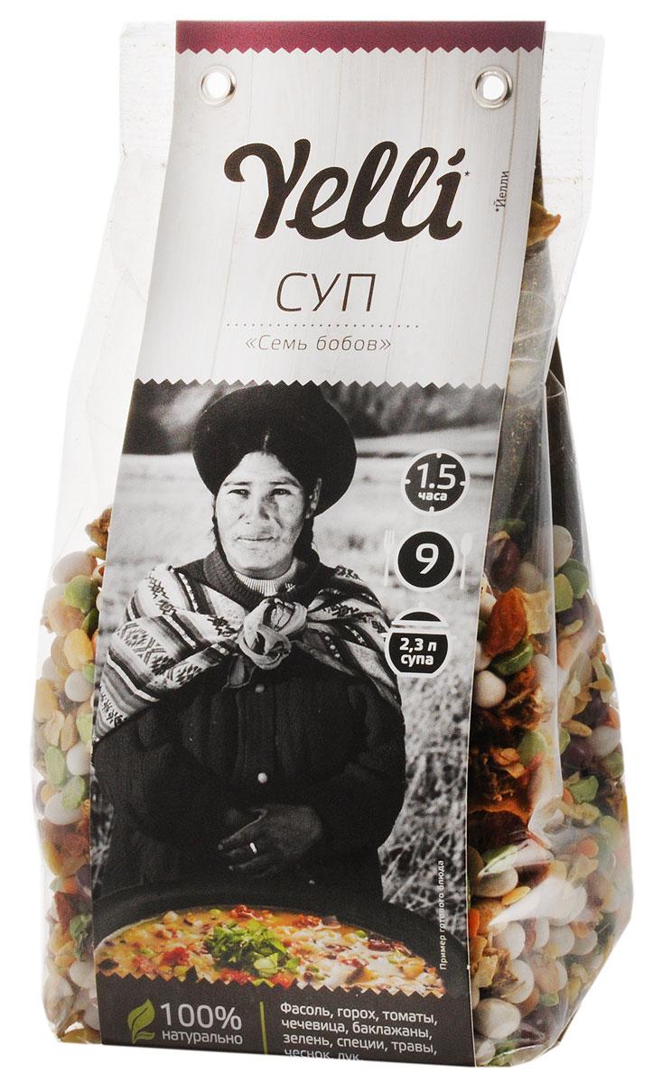 Yelli суп семь бобов, 250 г0120710Суп Yelli Семь бобов - это мексиканский овощной суп с бобовыми. Основу этого супа составляет фасоль, так популярная в мексиканской кухне. Для любителей остроты рекомендуем во время приготовления добавить перчик чили. Подавайте это изысканное блюдо с кукурузными лепешками и сметаной.