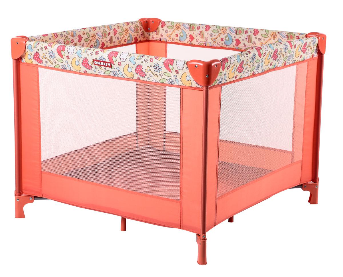 Happy Baby Игровой манеж HB-8090 CoralTHN132NИгровой манеж Happy Baby HB-8090 Coral - это удобный практичный и красивый манеж. Стильный и компактный манеж подарит малышу безопасное пространство для игр и развития, а родителям несколько свободных минут, чтобы заняться своими делами. Манеж имеет форму квадрата. Сетчатые стенки манежа обеспечат хорошую циркуляцию воздуха и позволят наблюдать за малышом. Все углы защищены атравматичными накладками. Манеж очень устойчивый благодаря дополнительным ножкам, расположенным по центру. Легко и компактно складывается в удобную сумку-переноску с застежкой-молнией. Манеж можно использовать на свежем воздухе.Возраст: 0-4 годаМаксимальный вес ребенка: 1-15 кг