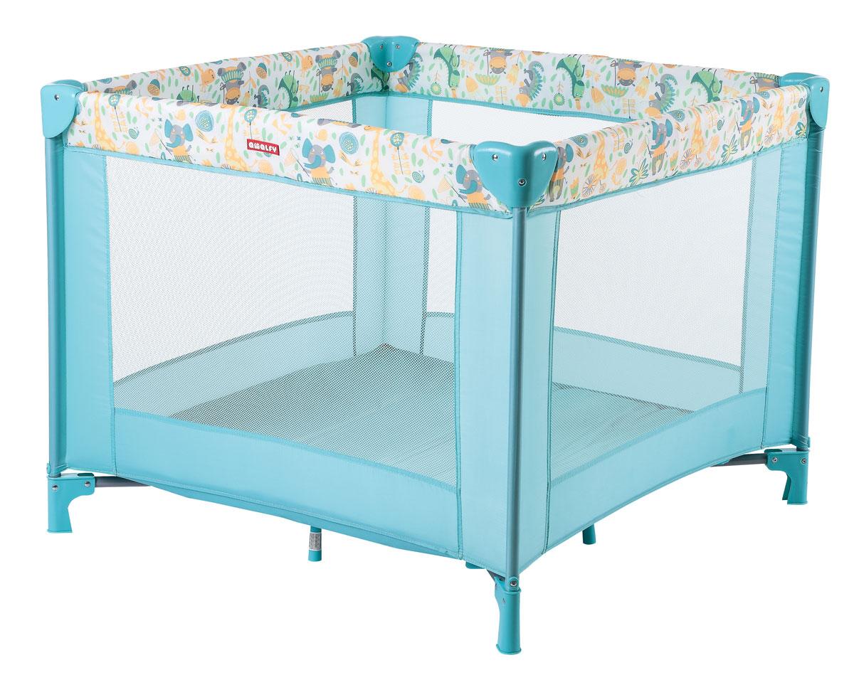 Happy Baby Игровой манеж HB-8090 Aqua4650069783596Игровой манеж Happy Baby HB-8090 Aqua - это удобный практичный и красивый манеж. Стильный и компактный манеж подарит малышу безопасное пространство для игр и развития, а родителям несколько свободных минут, чтобы заняться своими делами. Манеж имеет форму квадрата. Сетчатые стенки манежа обеспечат хорошую циркуляцию воздуха и позволят наблюдать за малышом. Все углы защищены атравматичными накладками. Манеж очень устойчивый благодаря дополнительным ножкам, расположенным по центру. Легко и компактно складывается в удобную сумку-переноску с застежкой-молнией. Манеж можно использовать на свежем воздухе.Возраст: 0-4 годаМаксимальный вес ребенка: 1-15 кг