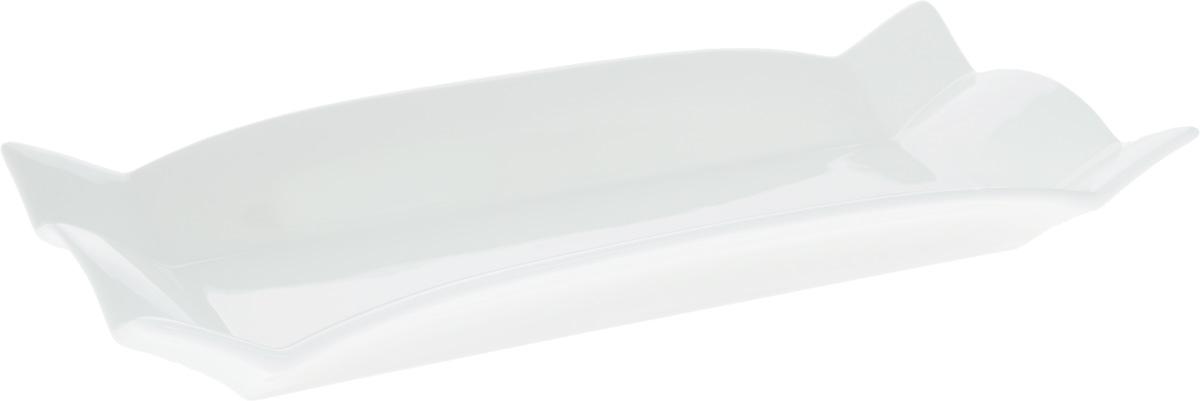 Блюдо Wilmax, прямоугольное, 32 х 15 смVT-1520(SR)Блюдо Wilmax прямоугольной формы изготовлено из высококачественного фарфора, покрытого слоем глазури. Изделие предназначено для подачи горячих блюд, нарезок, закусок, а также различных сладостей. Такое блюдо пригодится в любом хозяйстве, оно подойдет как для праздничного стола, так и для повседневного использования. Блюдо функциональное, практичное и легкое в уходе. Изделие можно мыть в посудомоечной машине и ставить в микроволновую печь.