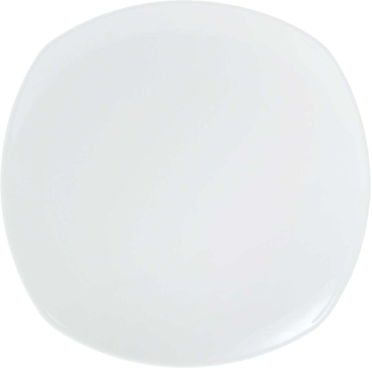 Тарелка Wilmax, 28 х 28 см115610Тарелка Wilmax, изготовленная из высококачественного фарфора, имеет оригинальную. Изящный дизайн придется по вкусу и ценителям классики, и тем, кто предпочитает утонченность и изысканность. Тарелка Wilmax идеально подойдет для сервировки стола и станет отличным подарком к любому празднику.Размер тарелки (по верхнему краю): 27 х 27 см.