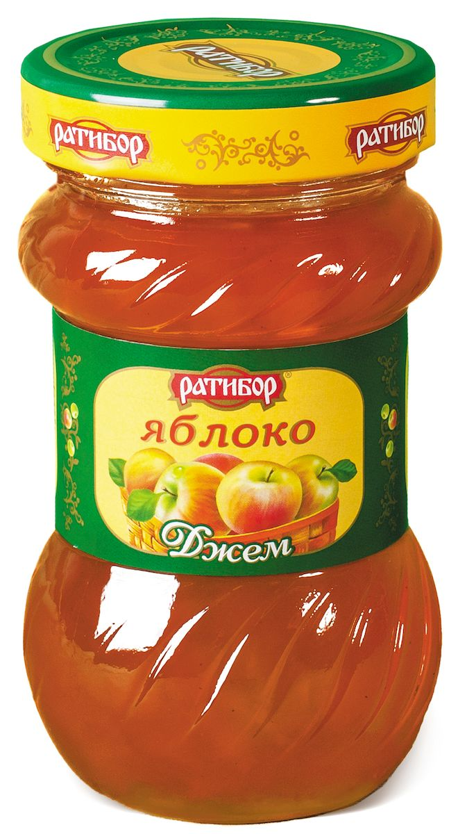 Ратибор джем Яблоко, 360 гP0053948Даже ломтик пшеничного хлеба превращается в изысканное лакомство, если покрыть его слоем золотистого яблочного джема!Кушайте на здоровье!