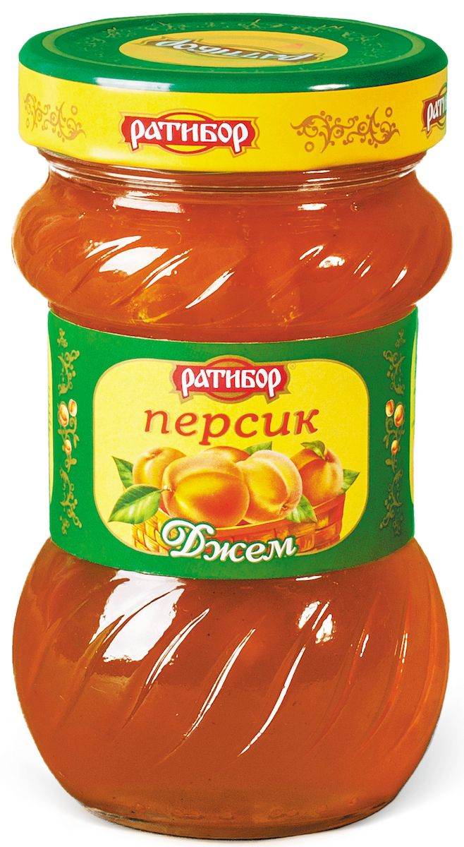 Ратибор джем Персик, 360 г0120710Сладость персика, сочность его мякоти, бархатистость тонкой кожицы, ароматный сок бережно хранятся в золотисто-сладком джеме, изготовленном для вас компанией Ратибор.Кушайте на здоровье!