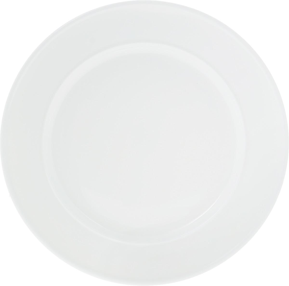 Тарелка Wilmax, диаметр 28 см115510Тарелка Wilmax, изготовленная из высококачественного фарфора, имеет классическую круглую форму. Оригинальный дизайн придется по вкусу и ценителям классики, и тем, кто предпочитает утонченность и изысканность. Тарелка Wilmax идеально подойдет для сервировки стола и станет отличным подарком к любому празднику.