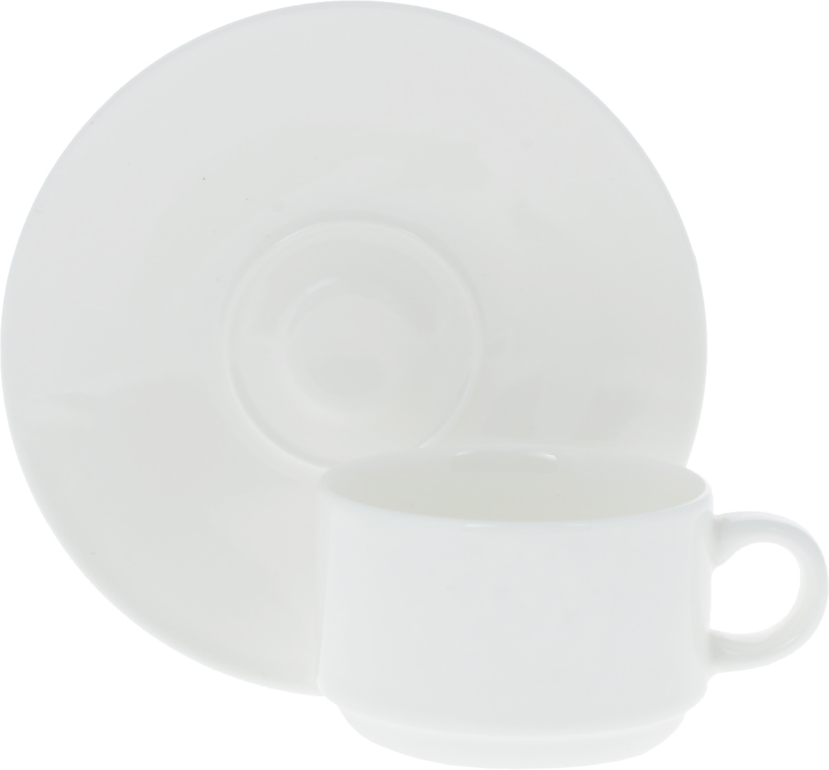 Кофейная пара Wilmax, 2 предмета. WL-993039 / AB115510Кофейная пара Wilmax состоит из чашки и блюдца. Изделия выполнены из высококачественного фарфора, покрытого слоем глазури. Изделия имеют лаконичный дизайн, просты и функциональны в использовании. Кофейная пара Wilmax украсит ваш кухонный стол, а также станет замечательным подарком к любому празднику.Изделия можно мыть в посудомоечной машине и ставить в микроволновую печь.Объем чашки: 140 мл.Диаметр чашки (по верхнему краю): 7 см.Высота чашки: 5 см.Диаметр блюдца: 13 см.
