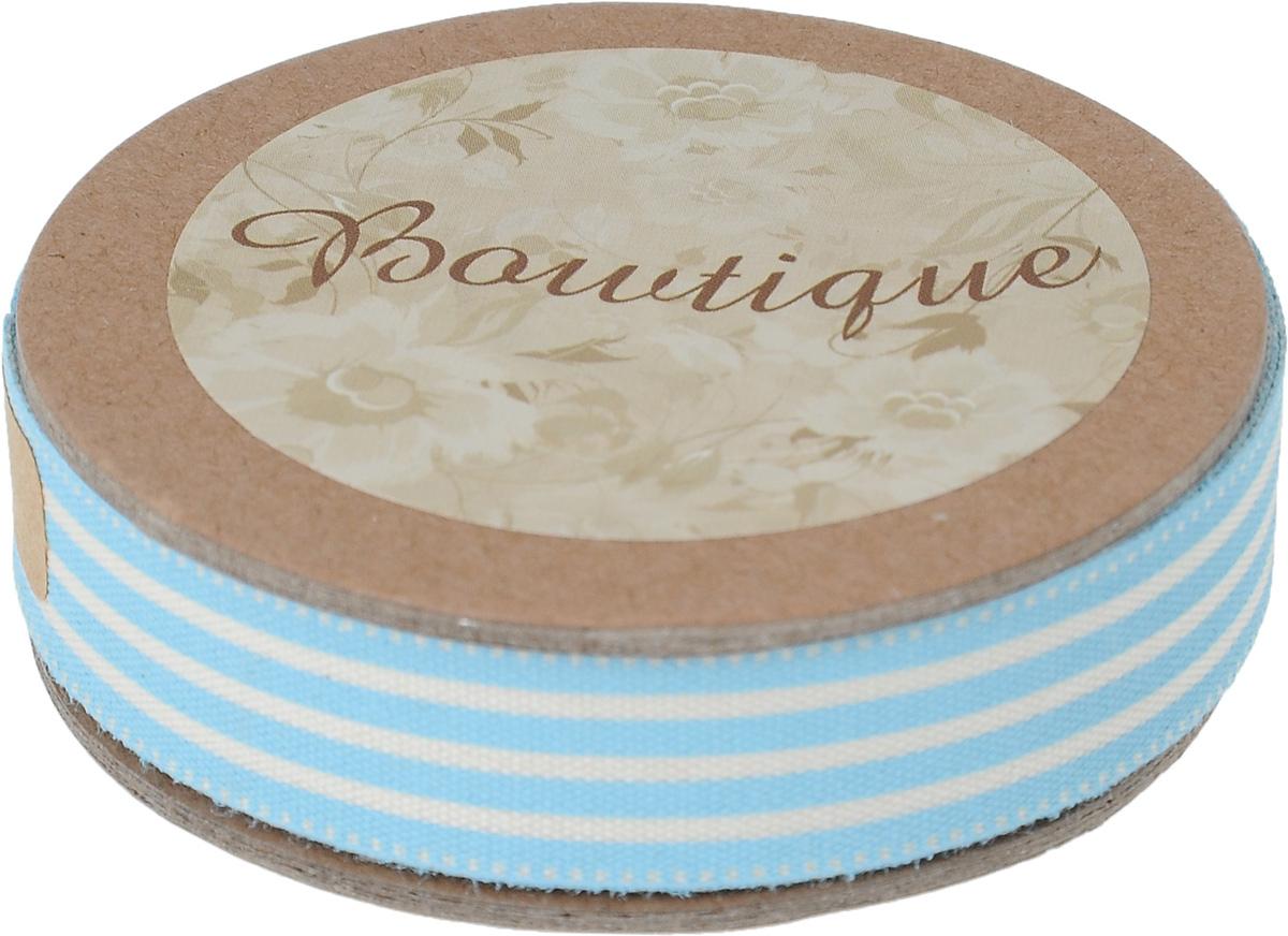 Лента хлопковая Hemline Полоски, цвет: белый, голубой, 1,5 х 500 смRSP-202SЛента на картонной катушке Hemline Полоски выполнена из хлопка. Такая лента идеально подойдет для оформления различных творческих работ, может использоваться для скрапбукинга, создания аппликаций, декора коробок и открыток, часто ее применяют при пошиве одежды, сумок, аксессуаров. Лента наивысшего качества практична в использовании. Она станет незаменимым элементом в создании вашего рукотворного шедевра.