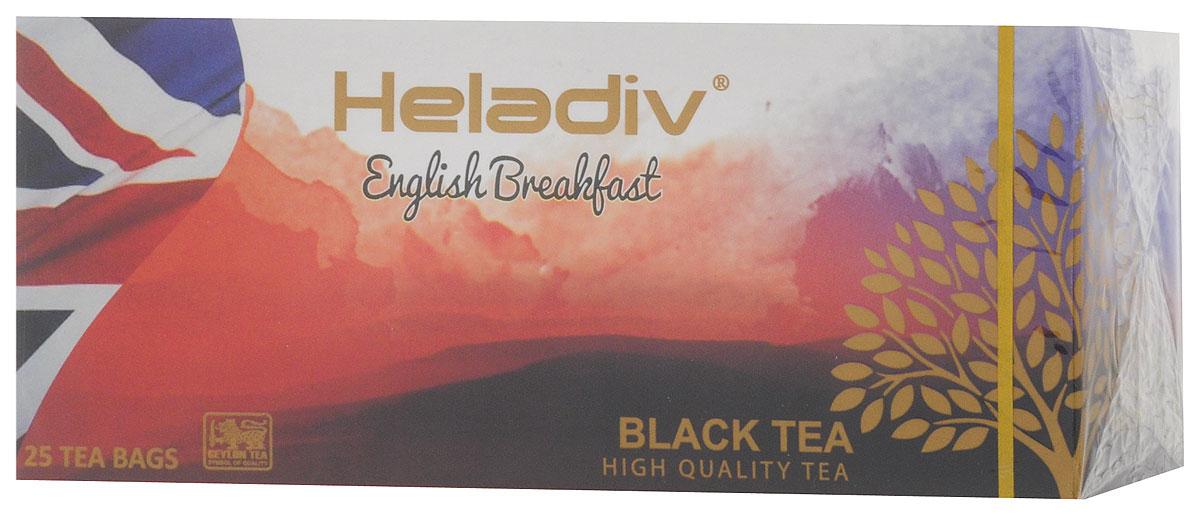 Heladiv English Breakfast чай черный в пакетиках, 25 шт0120710Heladiv English Breakfast - высокогорный элитный чай, классического вкуса и аромата. Этот крепкий и бодрящий по вкусу напиток прекрасно пробуждает от сна.