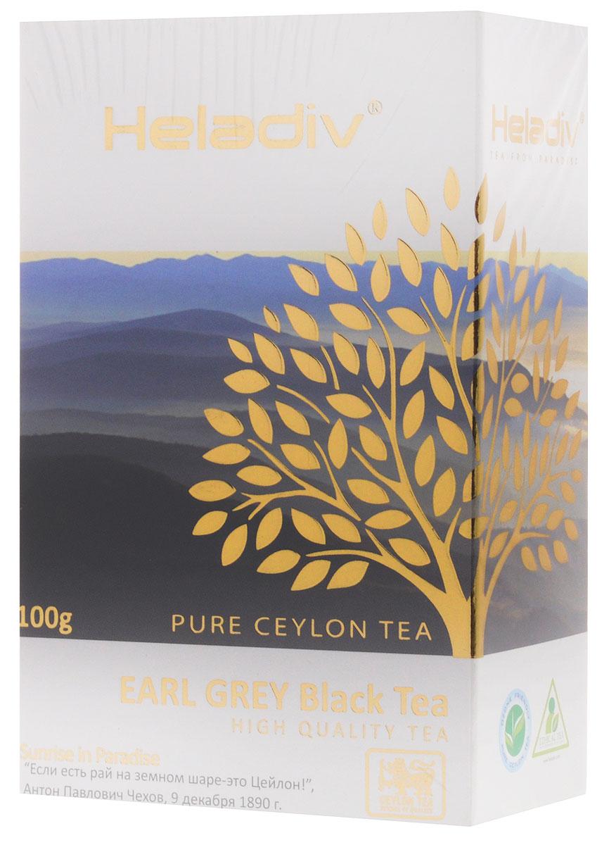 Heladiv Earl Grey чай черный листовой, 100 г4791007008293Heladiv Earl Grey - это лучший стандарт черного чая, дающий насыщенный приятный вкус с цитрусовыми нотками бергамота. При заваривании вы получите классический терпкий чай с легким пряно-бальзамическим ароматом итальянского бергамота и настоем темного цвета.