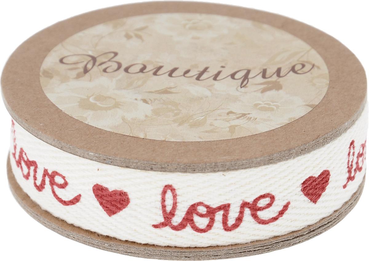 Лента хлопковая Hemline Love & Hearts, 1,5 х 500 см7710902Лента на картонной катушке Hemline Love & Hearts выполнена из хлопка. Такая лента идеально подойдет для оформления различных творческих работ, может использоваться для скрапбукинга, создания аппликаций, декора коробок и открыток, часто ее применяют при пошиве одежды, сумок, аксессуаров. Лента наивысшего качества практична в использовании. Она станет незаменимым элементом в создании вашего рукотворного шедевра.
