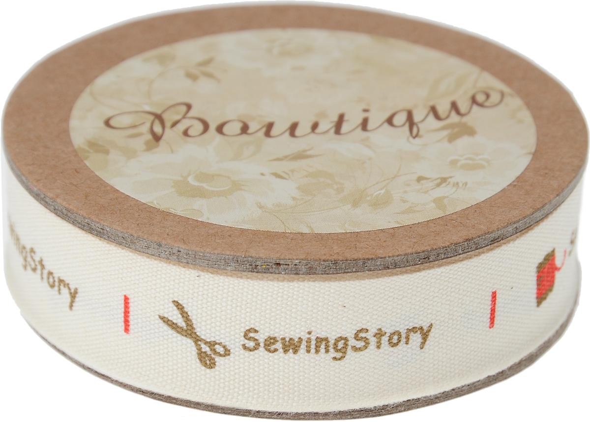 Лента хлопковая Hemline Sewing Story, 1,5 х 500 см19201Лента на картонной катушке Hemline Sewing Story выполнена из хлопка. Такая лента идеально подойдет для оформления различных творческих работ, может использоваться для скрапбукинга, создания аппликаций, декора коробок и открыток, часто ее применяют при пошиве одежды, сумок, аксессуаров. Лента наивысшего качества практична в использовании. Она станет незаменимым элементом в создании вашего рукотворного шедевра.