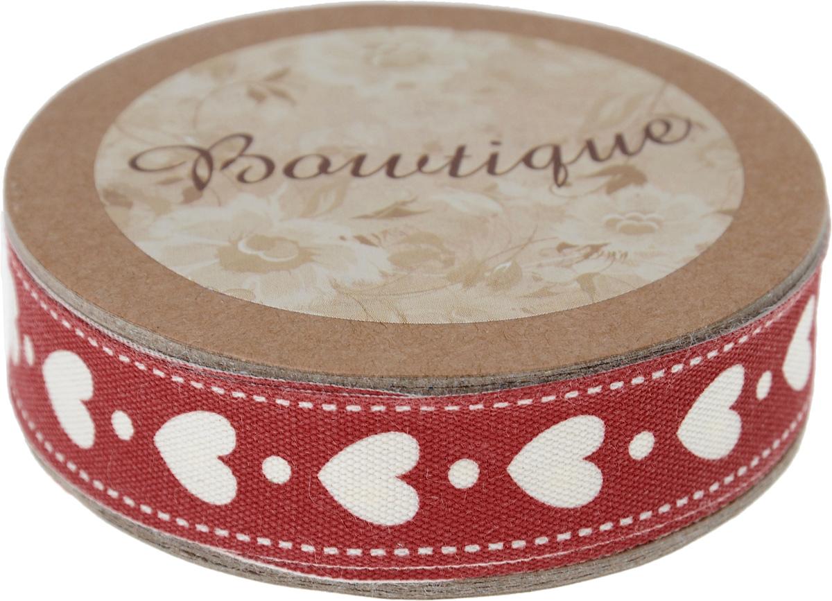 Лента хлопковая Hemline Сердечки, цвет: красный, молочный, 1,5 х 500 смVR15.041Лента на картонной катушке Hemline Сердечки выполнена из хлопка. Такая лента идеально подойдет для оформления различных творческих работ, может использоваться для скрапбукинга, создания аппликаций, декора коробок и открыток, часто ее применяют при пошиве одежды, сумок, аксессуаров. Лента наивысшего качества практична в использовании. Она станет незаменимым элементом в создании вашего рукотворного шедевра.