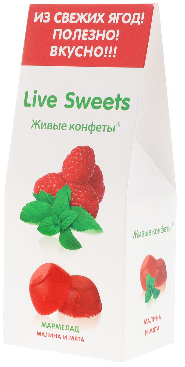Live Sweets Малина и мята мармелад желейный, 170 г12194288Желейный мармелад Live Sweets – полезная альтернатива обычным сладостям. Он произведен по специальной технологии, позволяющей сохранить все полезные свойства используемых ингредиентов. Состоит исключительно из натуральных ингредиентов, богатых витаминами и растительной клетчаткой.