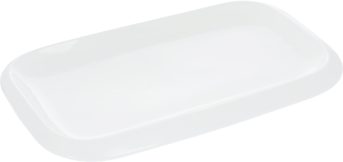 Блюдо Wilmax, 36 х 22 см115510Оригинальное прямоугольное блюдо Wilmax, изготовленное из фарфора, прекрасно подойдет для подачи нарезок, закусок и других блюд. Оно украсит ваш кухонный стол, а также станет замечательным подарком к любому празднику. Размер блюда (по верхнему краю): 36 х 22 см.