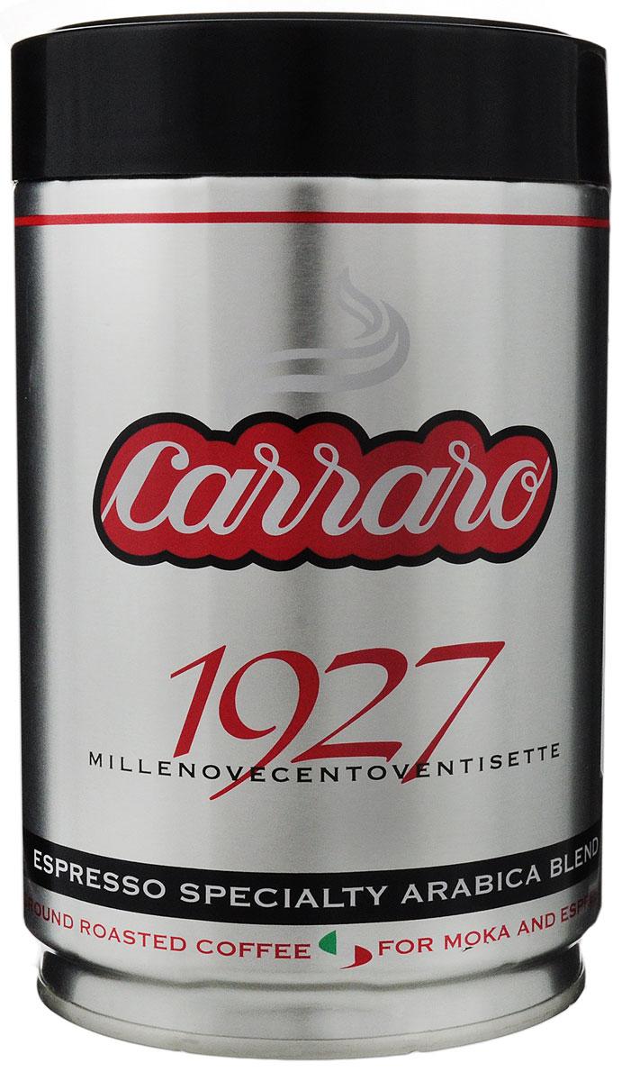 Carraro 1927 Arabica 100% кофе молотый, 250 г0120710Carraro 1927 Arabica 100% - ароматный вкус сладости для изысканных гурманов. Эта смесь арабики, которая представляет собой максимум с точки зрения аромата и тонкости вкуса - визитная карточка фабрики. Напиток - плод постоянных исследований и очень тщательной обработки, он создан для самых изысканных ценителей!