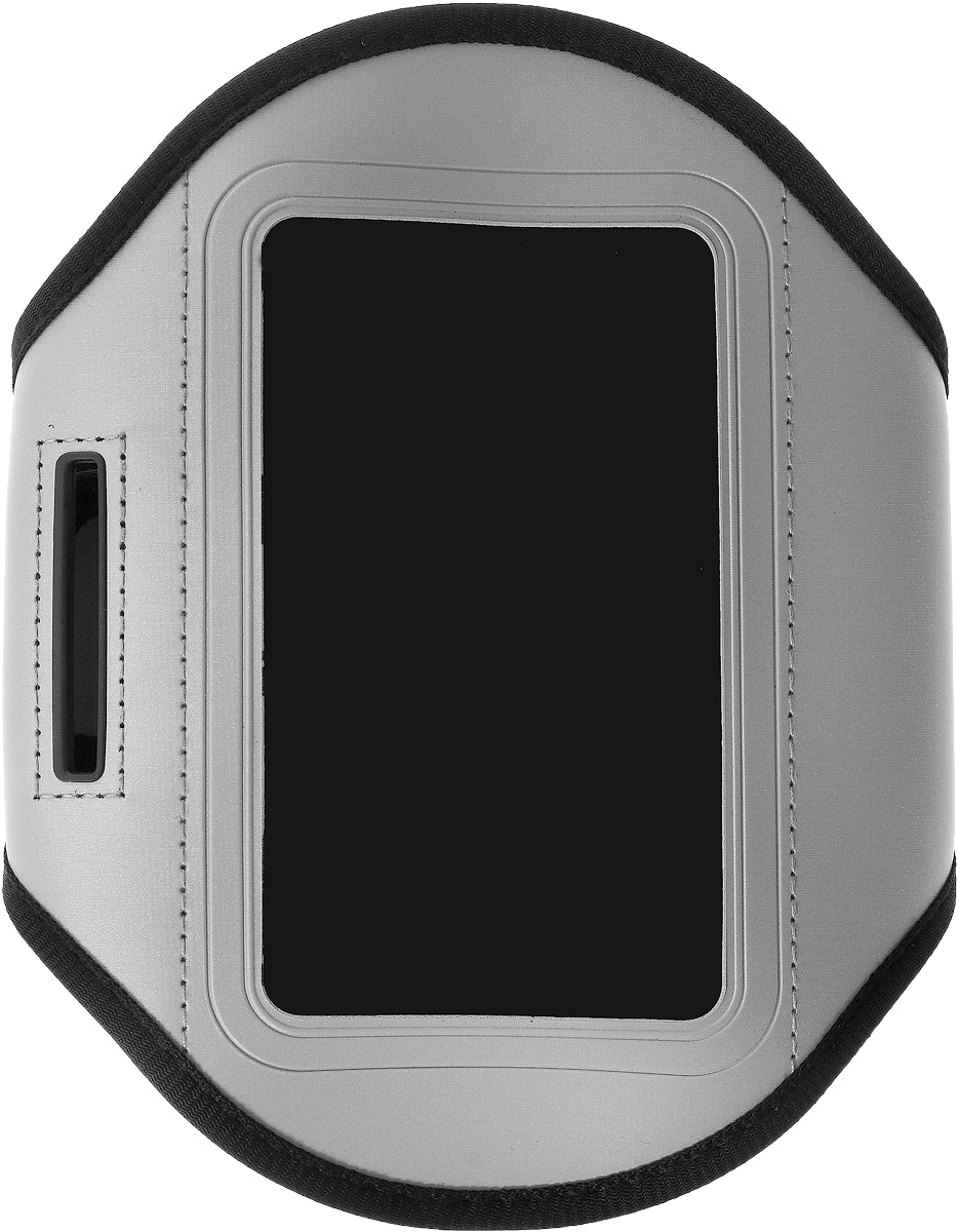 Чехол для телефона Sapfire, на руку, цвет: черный, серый2000000094502Спортивный чехол для телефона на предплечье Sapfire регулируется под любой размер бицепса. Он выполнен из полиуретана и лайкры. Специальный ремень позволяет плотно закрепить смартфон на руке, что гарантирует его сохранность во время спортивных занятий.Отделка из дышащей ткани исключает раздражение кожи в месте крепления.Чехол подойдет для Iphone 4,4s и других устройств с большим экраном.Максимальный размер экрана: 5,1 дюйма.Чехол также оснащен маленьким кармашком для ключа.Максимальный обхват руки: 34 см.Минимальный обхват руки: 23 см.