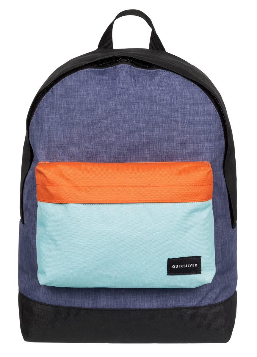 Рюкзак мужской Quiksilver Everyday edit m bkpk bfk0, цвет: синий, оранжевый. EQYBP03274-BFK0S76245Рюкзак Quiksilver выполнен из текстиля. У модели одно основное отделение. Передний карман на молнии. Рюкзак с регулируемыми по длине плечевыми лямками и петлей для подвешивания.