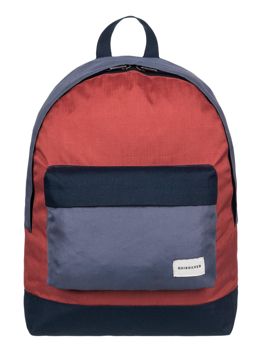 Рюкзак мужской Quiksilver Everyday edit m bkpk rqj0, цвет: красный, синий. EQYBP03274-RQJ0S76245Рюкзак Quiksilver выполнен из текстиля. У модели одно основное отделение. Передний карман на молнии. Рюкзак с регулируемыми по длине плечевыми лямками и петлей для подвешивания.