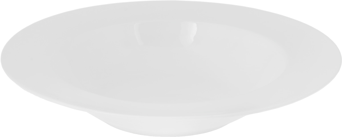 Тарелка глубокая Wilmax, диаметр 24 см115510Глубокая тарелка Wilmax, выполненная из высококачественного фарфора, предназначена для подачи супов и других жидких блюд. Она прекрасно впишется в интерьер вашей кухни и станет достойным дополнением к кухонному инвентарю. Тарелка Wilmax подчеркнет прекрасный вкус хозяйки и станет отличным подарком.