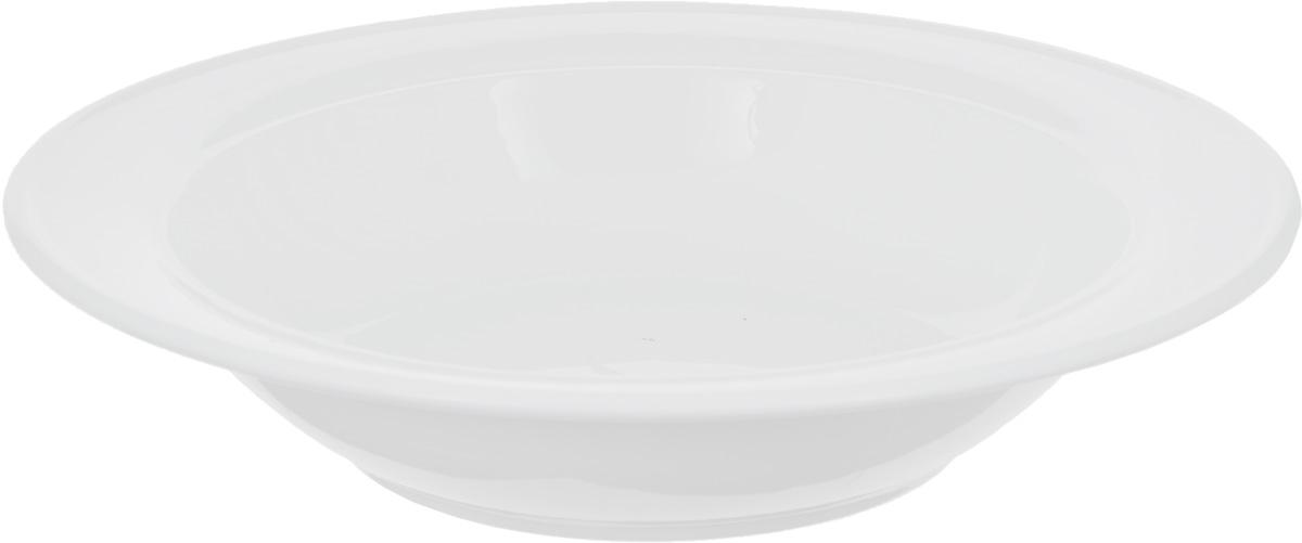 Тарелка глубокая Wilmax, диаметр 20 см54 009312Глубокая тарелка Wilmax, выполненная из высококачественного фарфора, предназначена для подачи супов и других жидких блюд. Она прекрасно впишется в интерьер вашей кухни и станет достойным дополнением к кухонному инвентарю. Тарелка Wilmax подчеркнет прекрасный вкус хозяйки и станет отличным подарком.