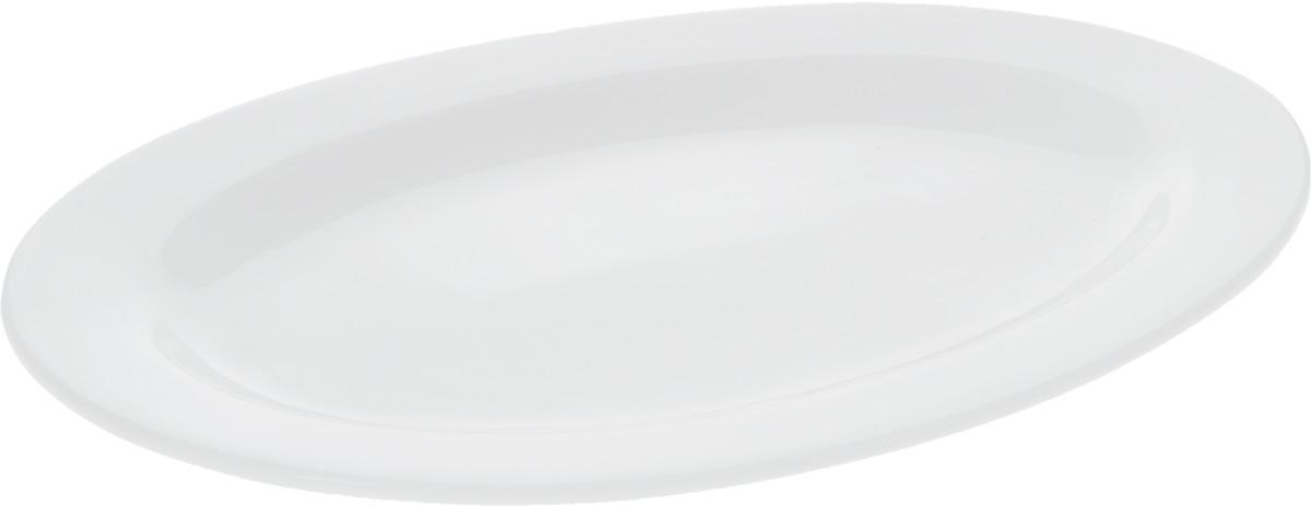 Блюдо Wilmax, 30,5 х 22 см115610Оригинальное овальное блюдо Wilmax, изготовленное из фарфора, прекрасно подойдет для подачи нарезок, закусок и других блюд. Оно украсит ваш кухонный стол, а также станет замечательным подарком к любому празднику.Размер блюда: 30,5 х 22 см.