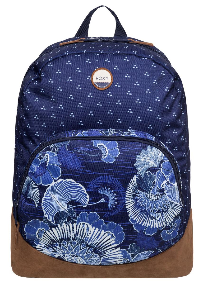 Рюкзак женский Roxy Fairness, цвет: синий, коричневый. ERJBP03268-BSQ8S76245Женский рюкзак Roxy выполнен из текстиля. У модели одно основное отделение. Передний карман на молнии. Рюкзак с регулируемыми по длине плечевыми лямками и петлей для подвешивания.
