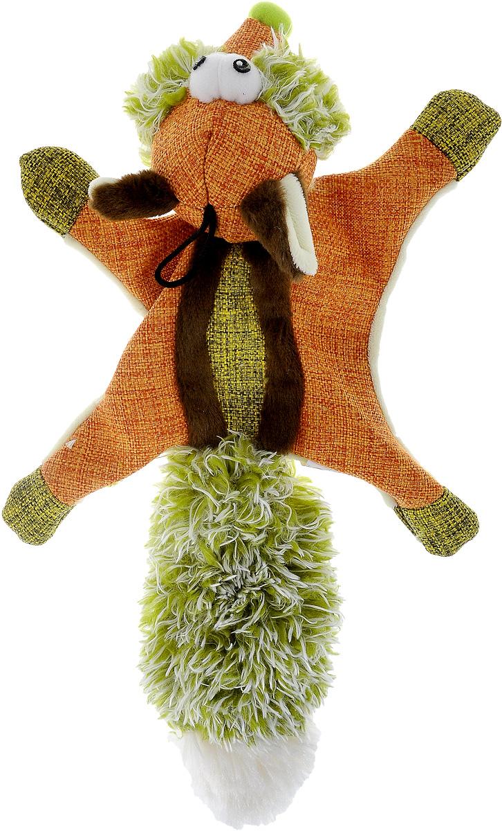 Игрушка для собак Zolux Белка-летяга, с пищалкой, цвет: оранжевый, зеленый0120710Игрушка для собак Zolux Белка-летяга, изготовленная из полиэстера, обязательно понравится вашему питомцу. Игра с мягкими игрушками помогает животному бороться со скукой и стрессом, способствует нормальной жизнедеятельности и развитию. Кроме того, такая игрушка обеспечивает сохранность многих предметов в доме, которые собаки любят жевать в отсутствие хозяев. Игрушка снабжена пищалками, что делает игру еще более интересной.