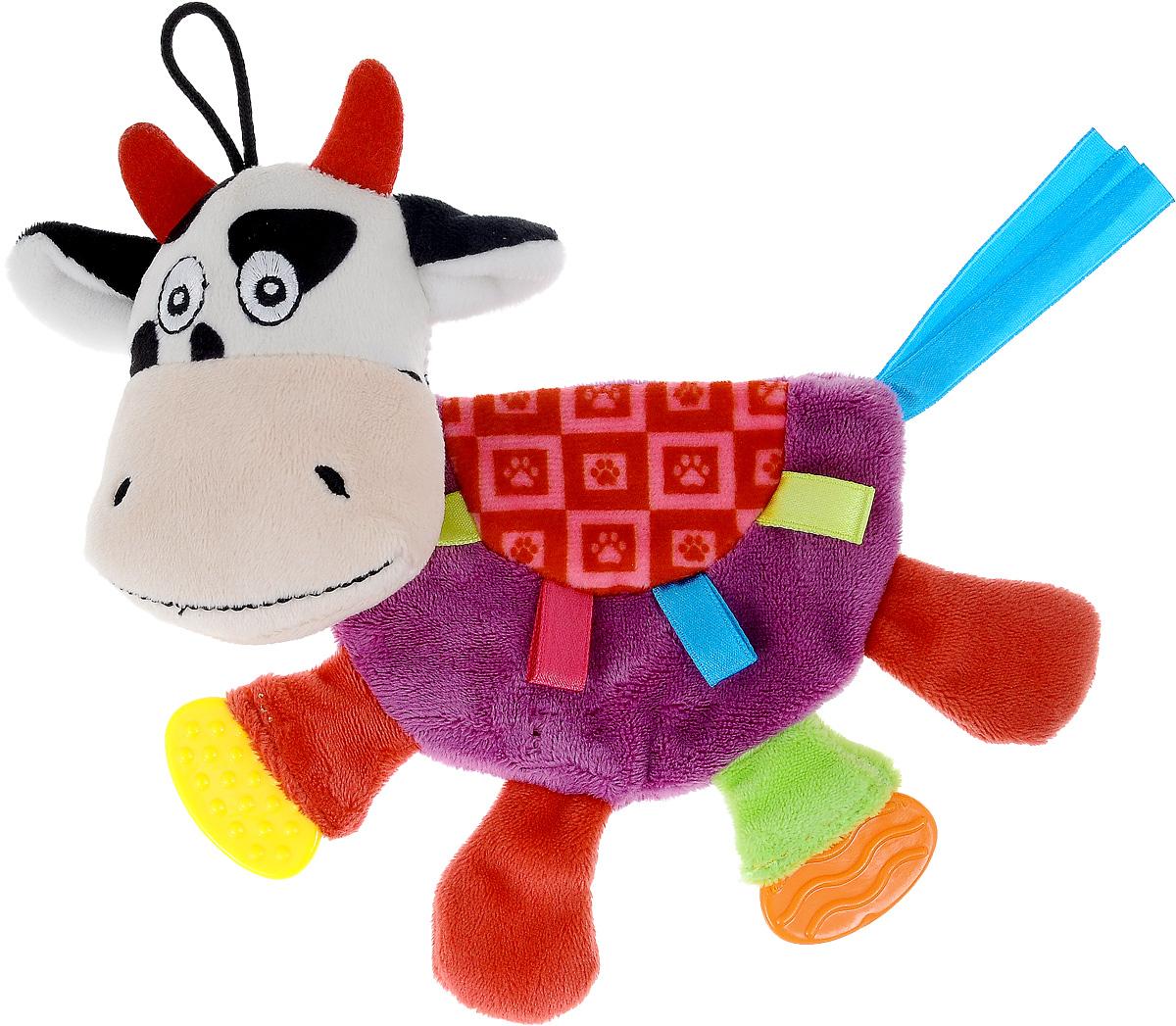 Игрушка для щенков и собак мелких пород Zolux Корова Рози, шуршащая