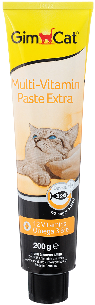 Паста для кошек GimCat  Multi-Vitamin Extra , 200 г - Ветеринарная аптека
