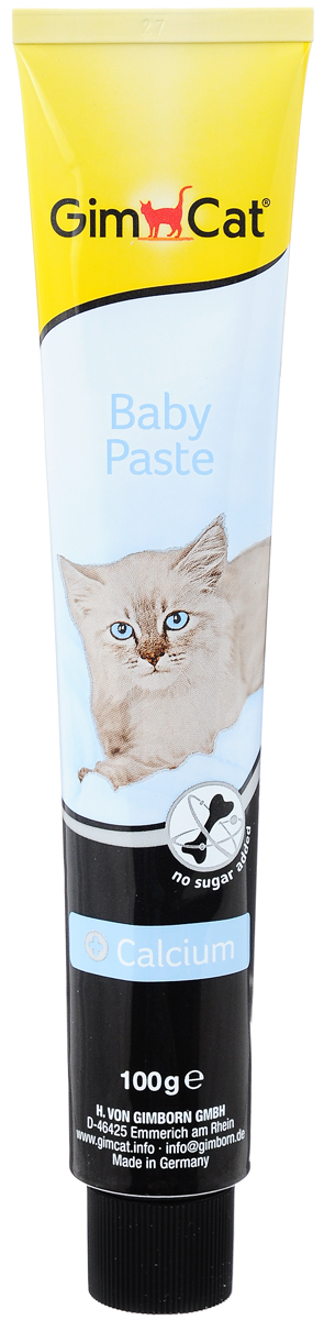Паста для котят GimCat  Baby , с кальцием, 100 г - Ветеринарная аптека