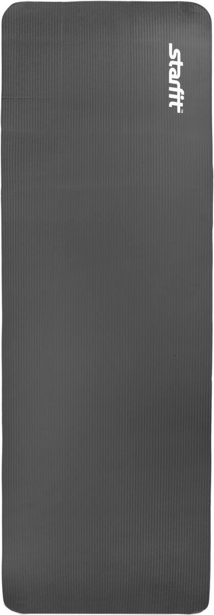 Коврик для йоги Starfit, цвет: черный, 183 x 61MCI54145_WhiteКоврик для йоги Star Fit - это современный, удобный и компактный аксессуар для занятий фитнесом и йогой в группах или домашних условиях. Изделие выполнено из NBR (нитрильный каучук), а не скользящая и мягкая на ощупь поверхность обеспечивает комфорт при выполнении упражнений. В процессе занятий коврик не растягивается и не теряет формы. Легкий коврик оснащен ремешками для комфортного хранения и переноски в свернутом состоянии.
