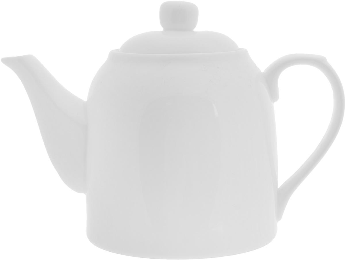 Чайник заварочный Wilmax, 900 мл6087Заварочный чайник Wilmax изготовлен из высококачественного фарфора. Глазурованное покрытие обеспечивает легкую очистку. Изделие прекрасно подходит для заваривания вкусного и ароматного чая, а также травяных настоев. Ситечко в основании носика препятствует попаданию чаинок в чашку. Оригинальный дизайн сделает чайник настоящим украшением стола. Он удобен в использовании и понравится каждому.Можно мыть в посудомоечной машине и использовать в микроволновой печи. Диаметр чайника (по верхнему краю): 8 см. Высота чайника (без учета крышки): 12 см.