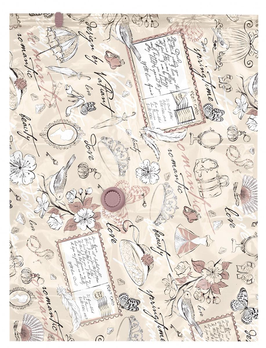 Чехол для вакуумного хранения Valiant Romantic, 90 х 70 см16050Чехол для вакуумного хранения Valiant Romantic поможет существенно сэкономить место в шкафу. Вещи сжимаются в объеме на 80%, полностью сохраняя свое качество. Хранить их можно в течение целого сезона (осенью и зимой - летний гардероб, летом - зимние свитера, шарфы, теплые одеяла). Чехол также защитит вещи от любых повреждений - влаги, пыли, пятен, плесени, моли и других насекомых, а также от обесцвечивания, запахов и бактерий. Откачать воздух можно любым стандартным пылесосом (отверстие клапана 27 мм) за 30 секунд. Чехол закрывается на замок zip-lock. Не подходит для изделий из меха и кожи.