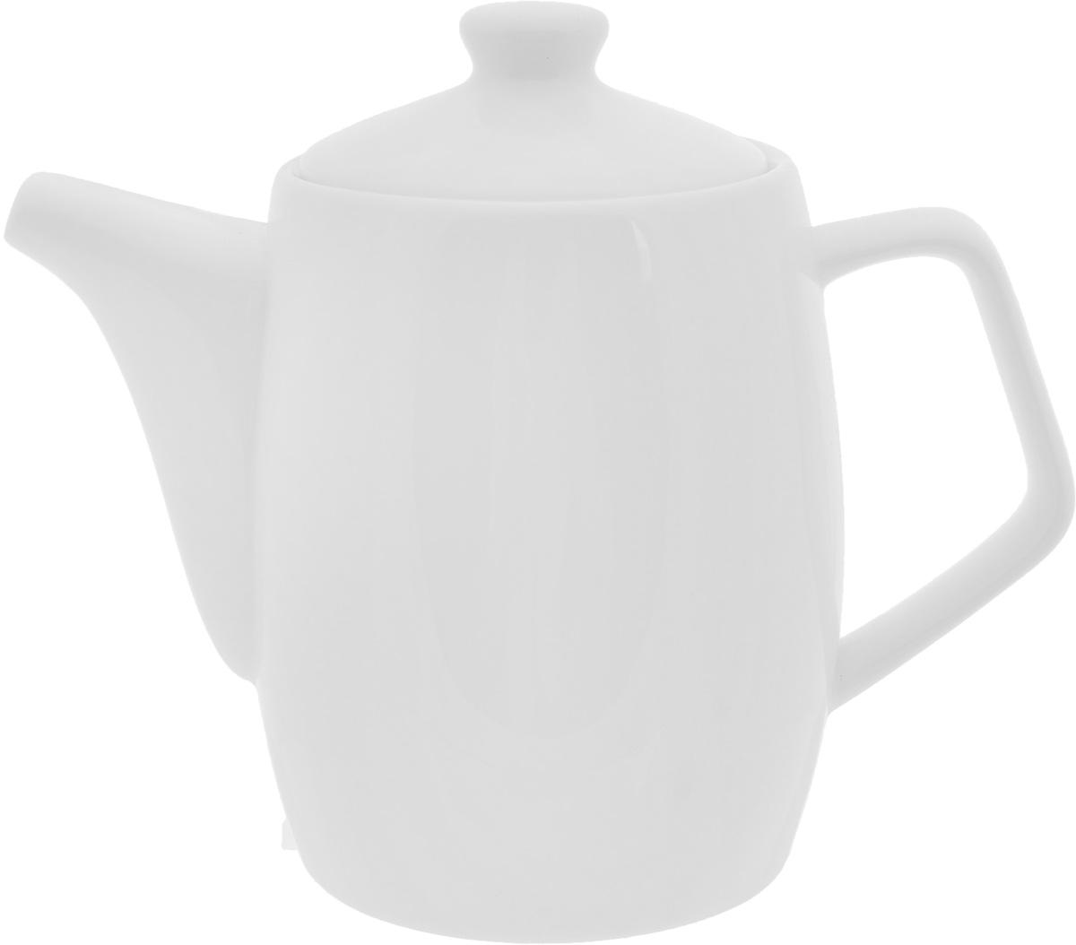 Чайник заварочный Wilmax, 500 мл391602Заварочный чайник Wilmax изготовлен из высококачественного фарфора. Глазурованное покрытие обеспечивает легкую очистку. Изделие прекрасно подходит для заваривания вкусного и ароматного чая, а также травяных настоев. Ситечко в основании носика препятствует попаданию чаинок в чашку. Оригинальный дизайн сделает чайник настоящим украшением стола. Он удобен в использовании и понравится каждому.Можно мыть в посудомоечной машине и использовать в микроволновой печи. Диаметр чайника (по верхнему краю): 7,5 см. Высота чайника (без учета крышки): 11 см.