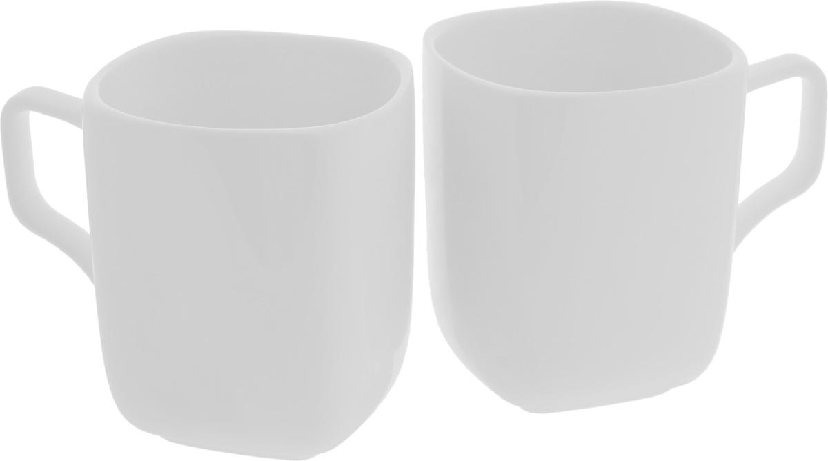 Набор кружек Wilmax, 470 мл, 2 штFS-91909Набор Wilmax состоит из двух кружек, выполненных из высококачественного фарфора с глазурованным покрытием. Изделия станут незаменимыми для чаепития, порадуют вас практичностью, высоким качеством и стильным дизайном. Оригинальный набор Wilmax отлично дополнит коллекцию вашей кухонной посуды и станет хорошим подарком для ваших друзей и близких. Диаметр кружки (по верхнему краю): 9 см.