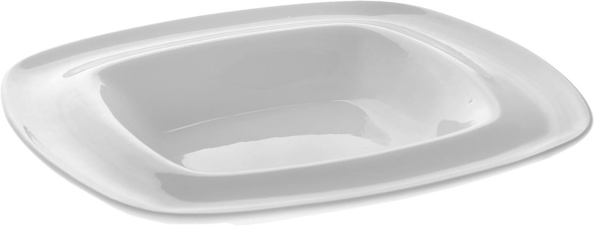Тарелка глубокая Wilmax, 22 х 22 см115510Глубокая тарелка Wilmax, выполненная из высококачественного фарфора, предназначена для подачи супов и других жидких блюд. Она прекрасно впишется в интерьер вашей кухни и станет достойным дополнением к кухонному инвентарю. Тарелка Wilmax подчеркнет прекрасный вкус хозяйки и станет отличным подарком.Размер тарелки: 22 х 22 см.