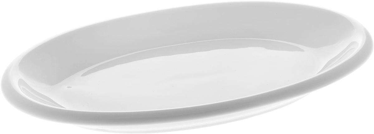 Блюдо Wilmax, 26 х 14,5 см115510Оригинальное овальное блюдо Wilmax, изготовленное из фарфора, прекрасно подойдет для подачи нарезок, закусок и других блюд. Оно украсит ваш кухонный стол, а также станет замечательным подарком к любому празднику.Размер блюда: 26 х 14,5 см.